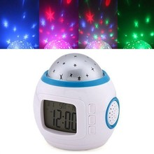 Best Selling Music stars projection alarm clock Luminous electronic calendar 7 colour mute electronic clock