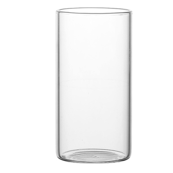 300ml 350ml 380 ml straight sided clear borosilicate drinking glass cup Thin walled borosilicate water glass / tumbler