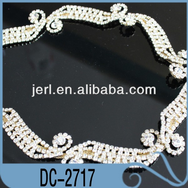 Wholesale fashion and hot-sale rhinestone timming for garment