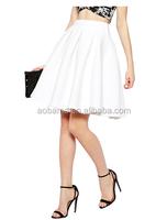 Solid High Waist Ruffled Mini Skirt