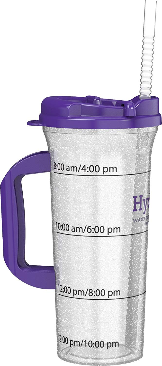 f46aeeb622 Get Quotations · Hydr-8 Purple 32ounce Water Bottle with Swivel Lid