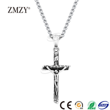 ZMZY brand wholesale 2017 newest jewelry 316l stainless steel large cross pendants necklace