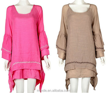 e7c579d9932 Women Linen Tunic Tops