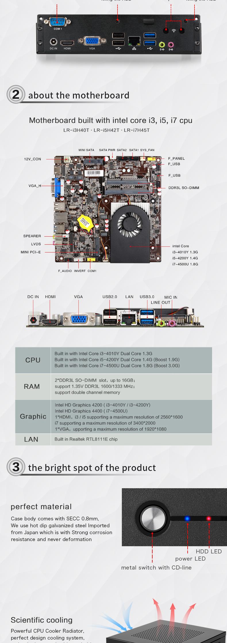 Intel Mini Pc Windows 10 Linux Desktop Computers I3 Core I7 Mini Pc I5  Support Mic 8g Ram 8g Ssd - Buy Mini Pc Windows 10,Intel Mini Pc,Linux  Desktop