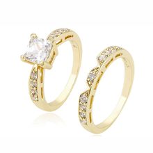13686-14k gold jewelry couple diamond rings, fashion custom eternity wedding engagement gold finger ring design for women