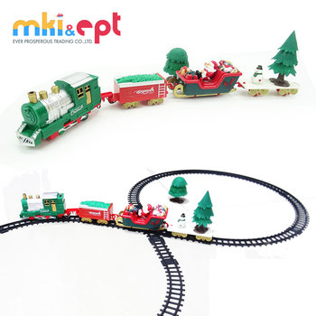 Electric train toy christmas plastic toy train tracks set