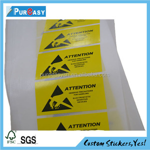 Printing Custom Order Plastic security seals label stickers