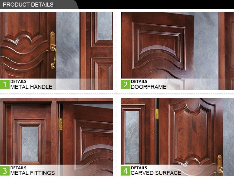 Porte In Legno Massello Prezzi : Colore mogano massello di rovere bianco in legno porta principale