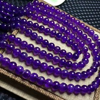 Natural crystal Amethyst Round Beads Pure Deep Purple women beads for DIY