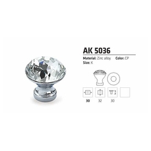 Ball crystal design chrome modern zinc alloy kitchen cabinet knob handle pulls or furniture knob for drawer wardrobe cupboard