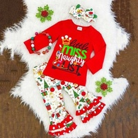 fall/winter baby girls cotton children clothes wholesale boutique girl clothing set little girls boutique Christmas Day outfit