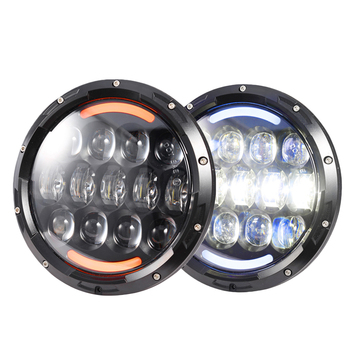 "7"" halo headlight sealed beam 105w replacement lights for jeep & motorcycle"