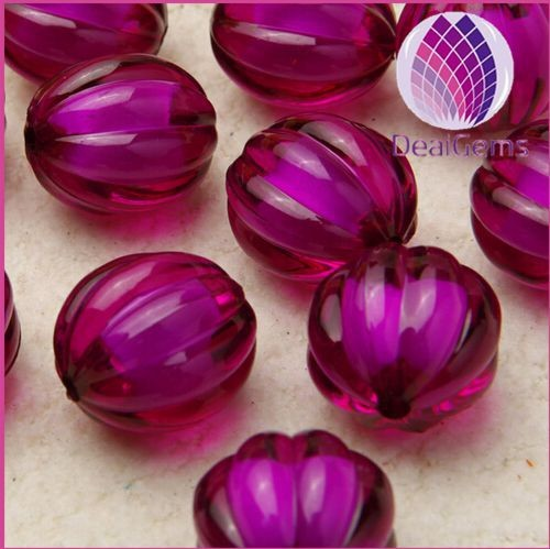miracle purple 12mm Bulk chunky acrylic faceted pumpkin ball beads