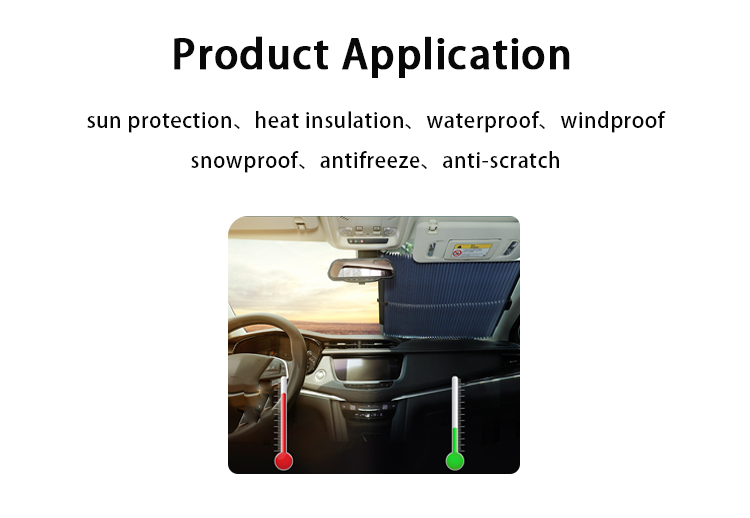 ZY-Q-006 Front window retractable best funny car sun shade