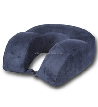 Orthopedic Memory Foam Travel Neck Pillow with Snap