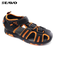 SEAVO boy's tpr sole black hiking sandal