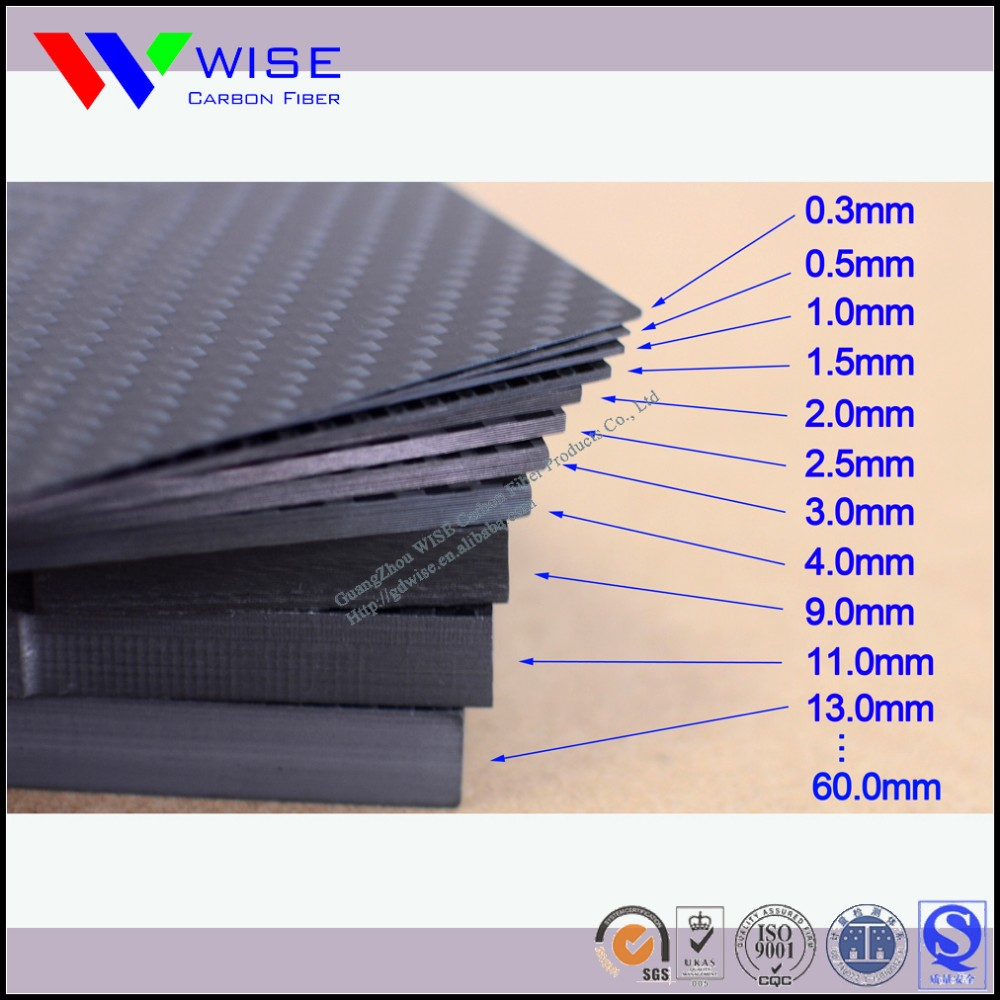 ROHS SGS certificate top quality low price 3K <strong>carbon</strong> fiber sheet plate board panel 1.5mm
