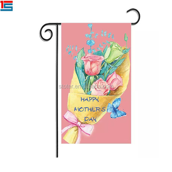 12 x 18inch seasonal decorative garden flags with 120cm pole