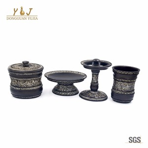 Hotel 4 Piece Resin Bath Accessories Collection