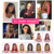 MegaLook Machine Made Black Straight Braziliaanse Virgin Human Hair Lace Front Korte Bob Pruiken met Bang