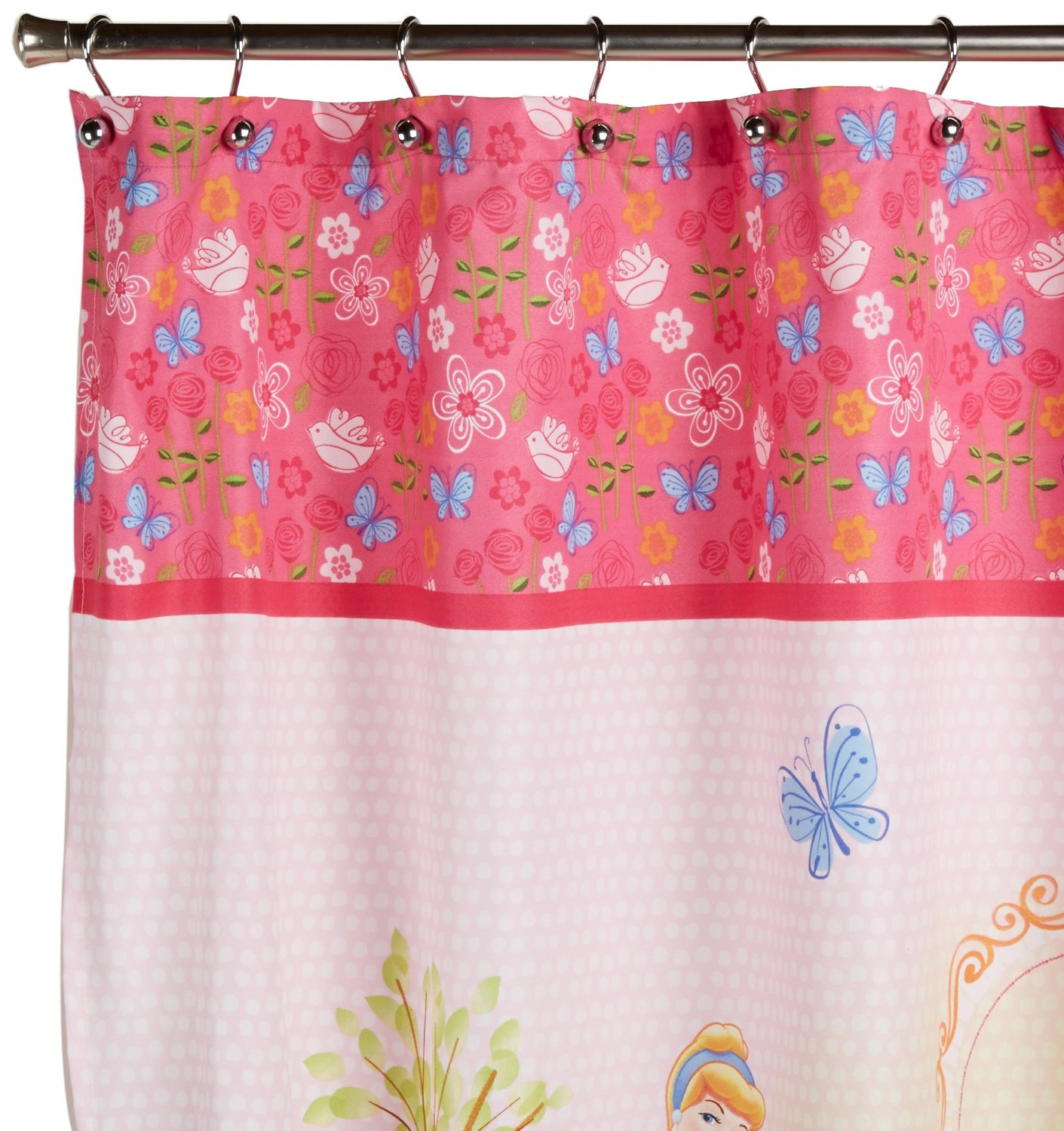 Get Quotations Disney Princess Microfiber Shower Curtain Features 4 Princesses 70in X 72in