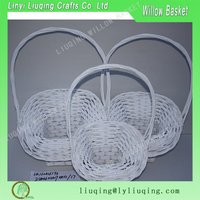 long handle willow fruit basket cheap wicker gift baskets for gift