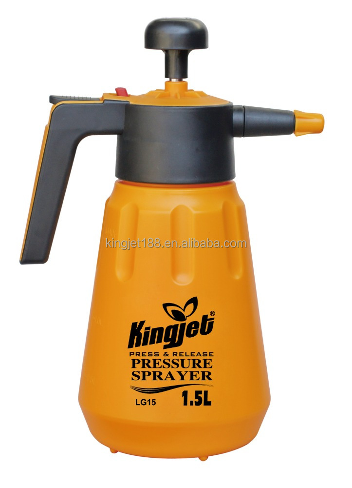 1L 1.5L 2L HDPE high pressure hand pump sprayer with foaming nozzles VITON seal