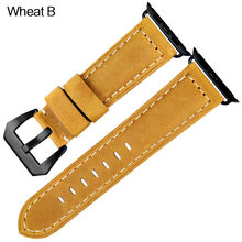 MAIKES ремешок для часов из натуральной кожи ремешок для часов браслет для Apple watch 42 мм 38 мм серия iwatch 4 44 мм 40 мм аксессуар(Китай)