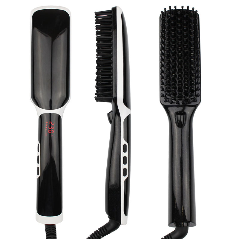 ULIFE 2017 World LCD Display Spray Heated Electric Hair Straightening Brush