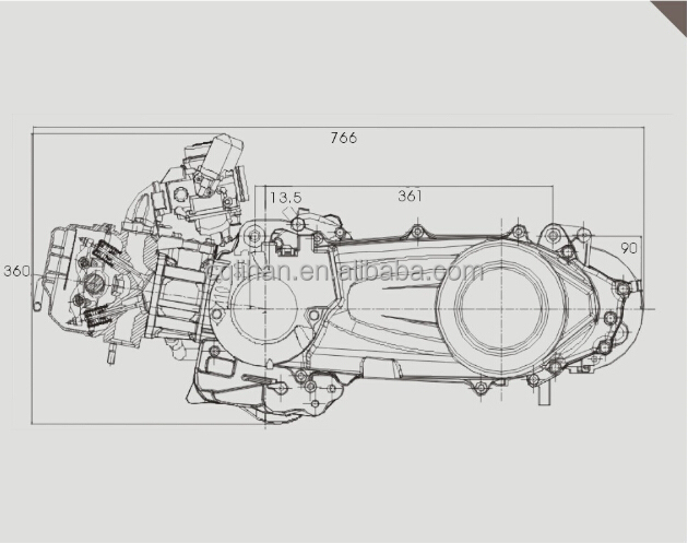150cc scooter engine diagram
