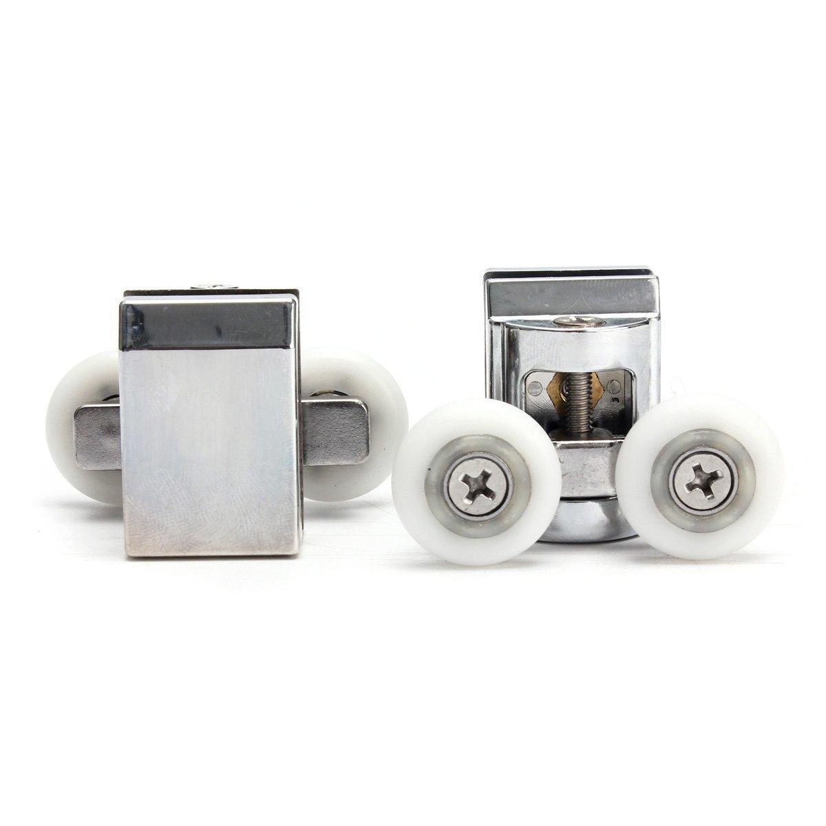 8X Shower Door Rollers Runners Wheels 25mm Replacement Parts Top//Bottom