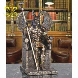 Fiberglass sculpture Ancient Egypt god Anubis statue