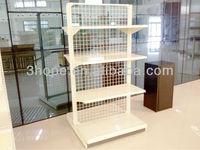 Double-sides Wire Back Shelf Metal Gondola Storage Wire Mesh Shelf