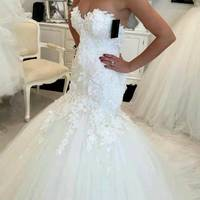 ZH3164G New Opening Back Mermaid Wedding Dresses Lace Appliques Sweetheart Bride Dresses New Design Elegant Wedding Gowns