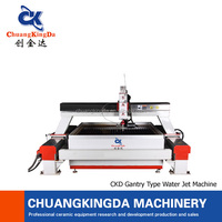 CKD- CNC Five axis water jet cutting machine/wet tile cutter