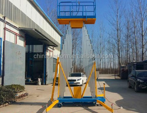 lifting height double mast aluminium ladder / electric power mobile aluminum lift platform
