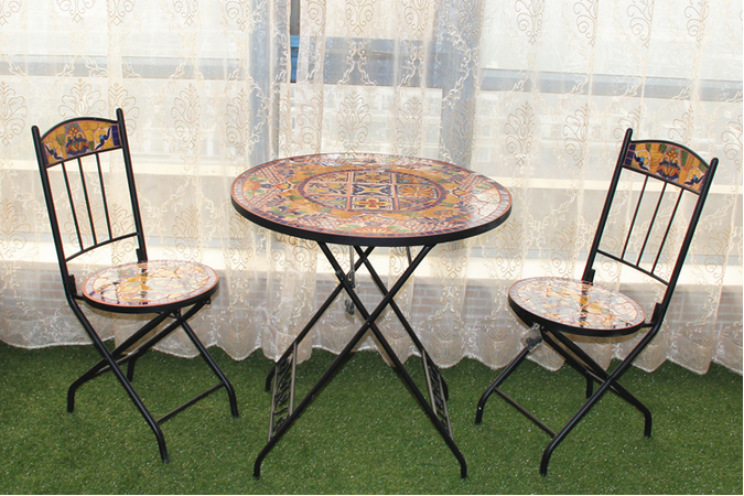 table exterieur fer forge mosaique table fer forge mosaique emejing table de jardin mosaique. Black Bedroom Furniture Sets. Home Design Ideas
