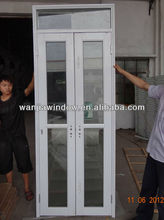 Aluminium clear glass french style ventilated entry doors