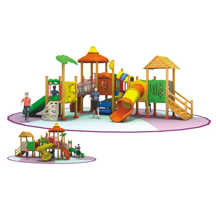 children wooden outdoor playground equipment big slides for sale