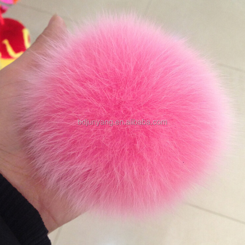 Metal alloy real fox fur Material and fur key chain