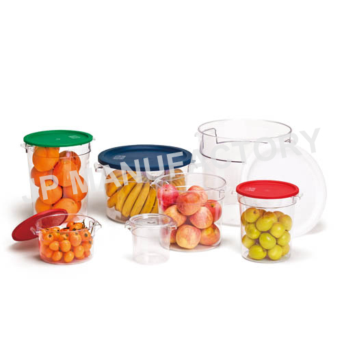Durable polycarbonate plastic round food storage container