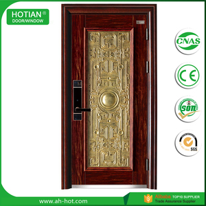 Residential Iron Steel French Doors Grill Designs Exterior Steel Security Doors Entrance Safety Door Factory Price