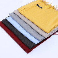 Fashion Wool Cashmere Two Tone Color Pashmina Scarf