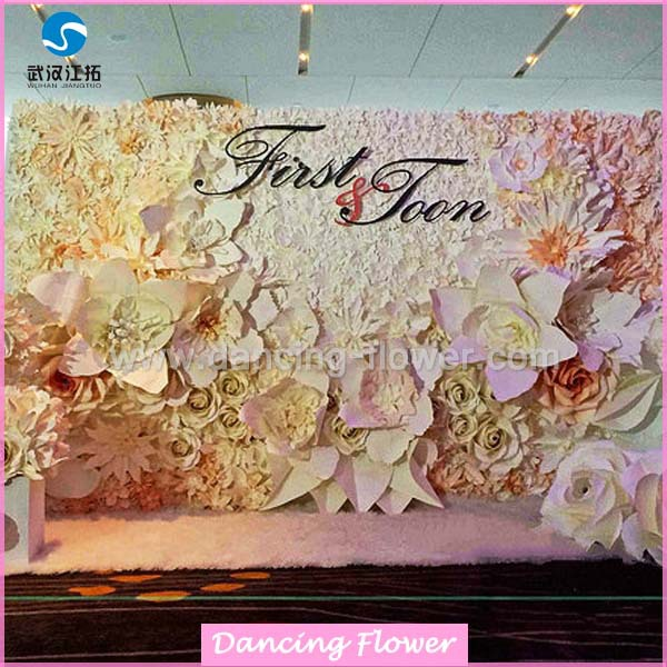Wedding stage flower decoration paper flowers wedding wall wedding stage flower decoration paper flowers wedding wall decorations for sale junglespirit Gallery