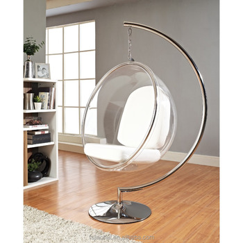 Modern Beautiful Clear Acrylic Swing Hanging Bubble Chair Cheap
