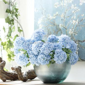 Zhuoou wholesale beautiful 7 fork artificial flowers fabric blue zhuoou wholesale beautiful 7 fork artificial flowers fabric blue hydrangea for home wedding decoration mightylinksfo
