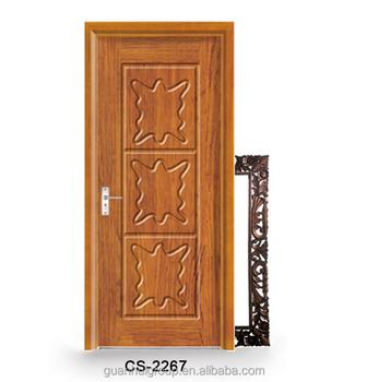 Dark Walnut Colored Wood Door Design In Bangladesh