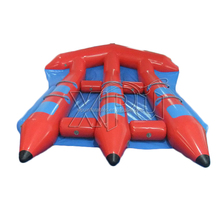 Pvc Tarpaulin Inflatable Flying Fish Tube Towable, Inflatable Water Games Flyfish Banana Boat For Sea