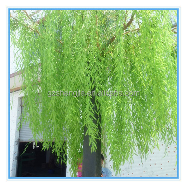Artificiale decorativo bianco e verde weeping willow tree per la decorazione dell'interno