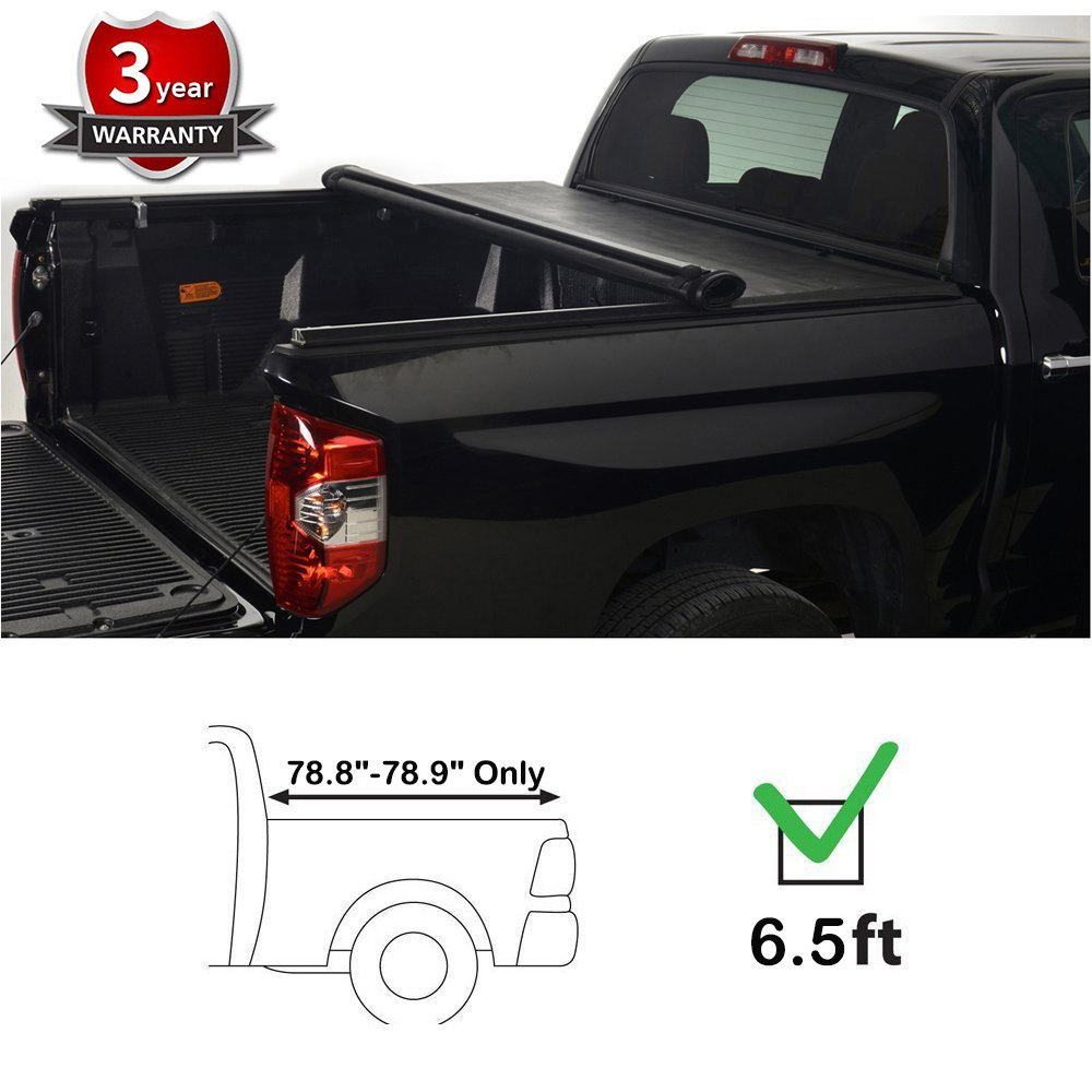 MaxMate Low Profile Soft Roll Up Truck Bed Tonneau Cover for 2007-2013 Chevy Silverado//GMC Sierra 1500 for Models Without Utility Track System Fleetside 5.8 Short Bed